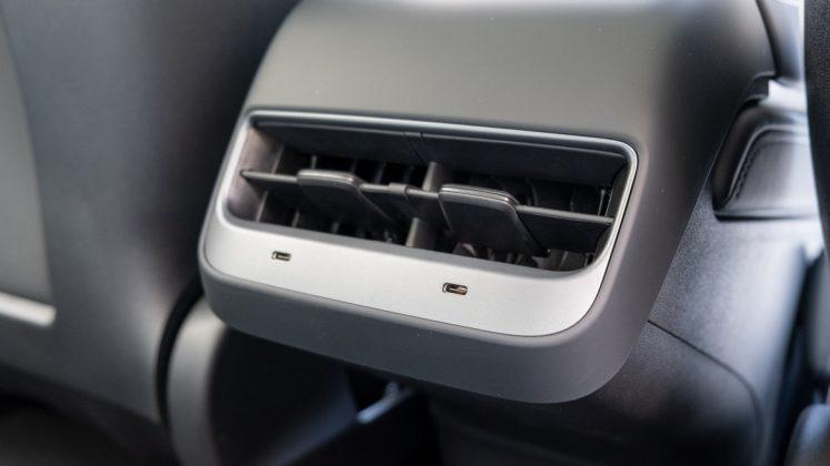 Tesla Model 3 rear USB
