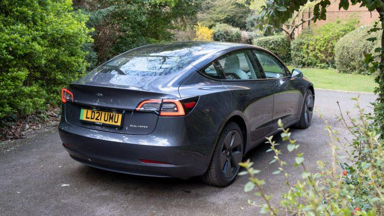 Tesla Model 3 rear look