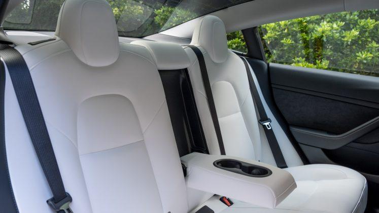 Tesla Model 3 rear seat design