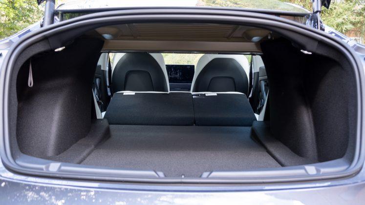 Tesla Model 3 seats down
