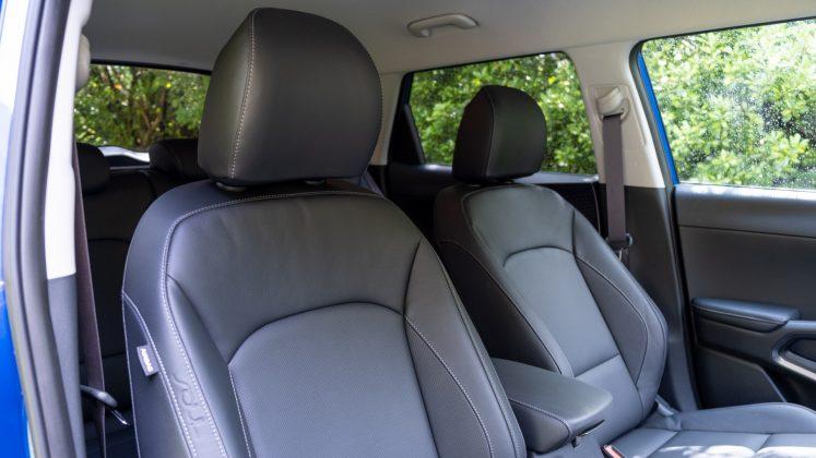 Kia Soul EV front seat comfort