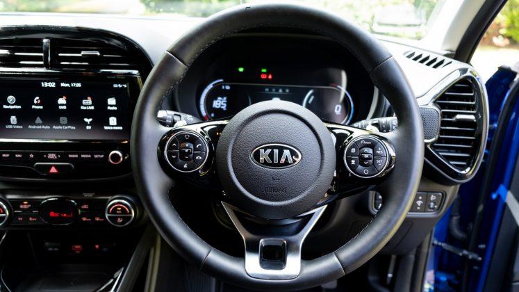 Kia Soul EV steering wheel