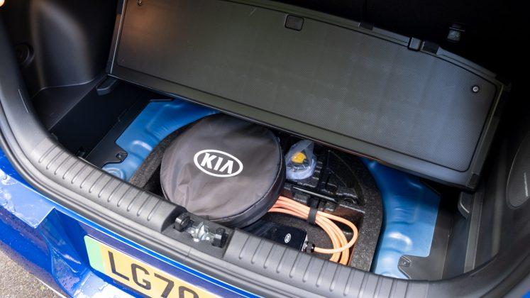 Kia Soul EV underfloor storage