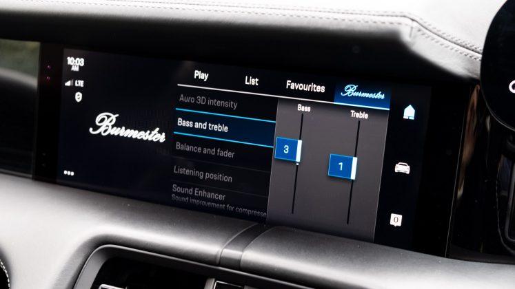 Porsche Taycan Turbo EQ settings