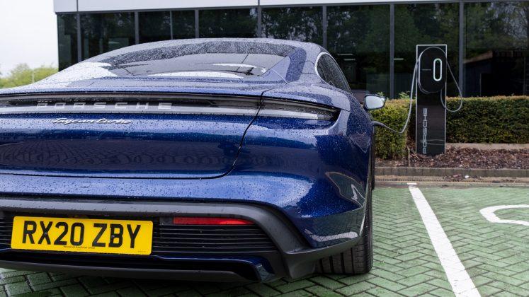 Porsche Taycan Turbo EV charge