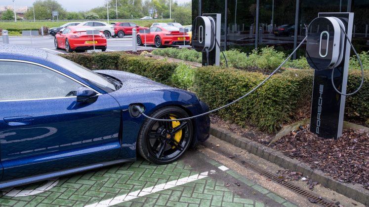 Porsche Taycan Turbo EV charger
