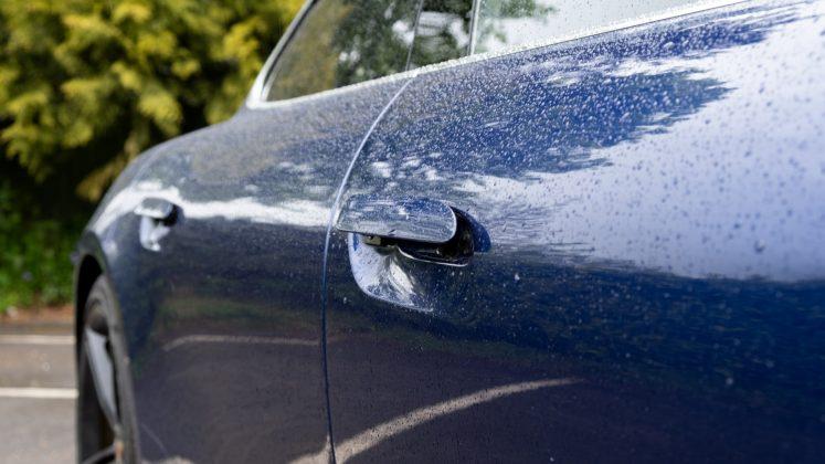 Porsche Taycan Turbo door handles open