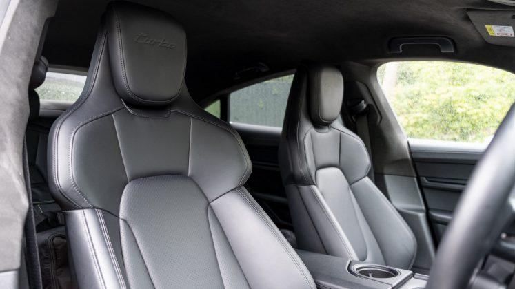 Porsche Taycan Turbo front seats