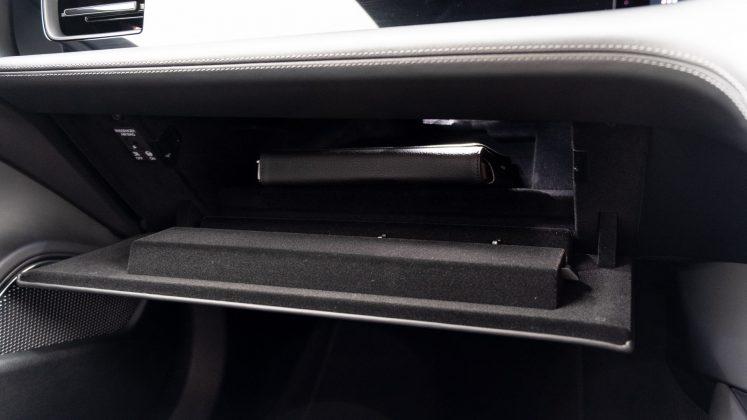 Porsche Taycan Turbo glove compartment