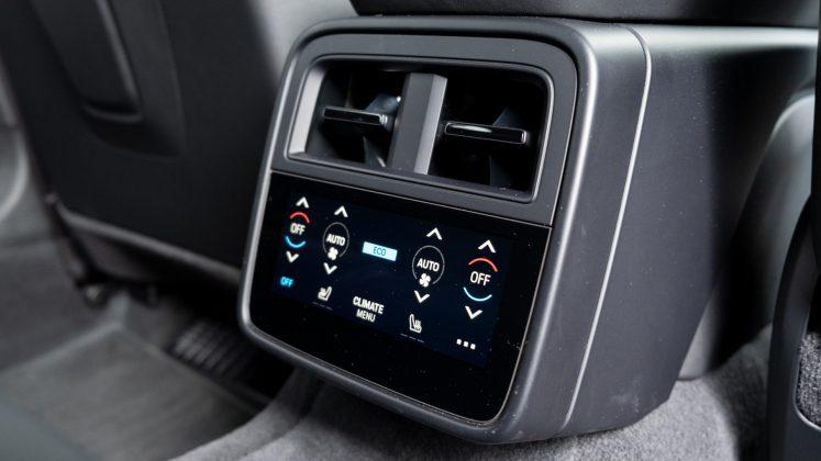 Porsche Taycan Turbo rear climate controls