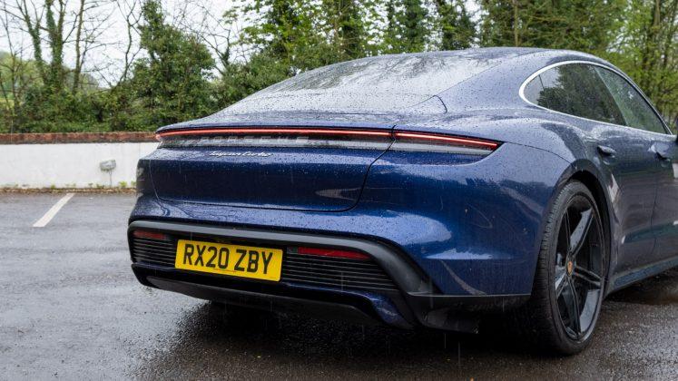 Porsche Taycan Turbo rear design