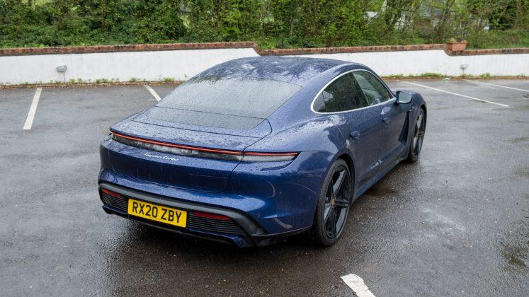 Porsche Taycan Turbo rear look
