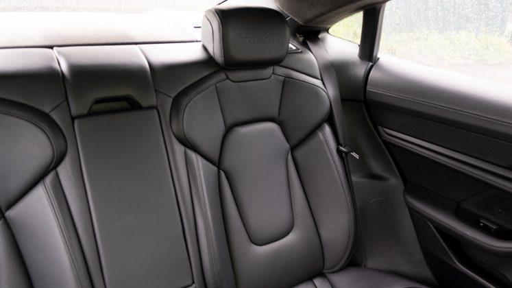 Porsche Taycan Turbo rear seat