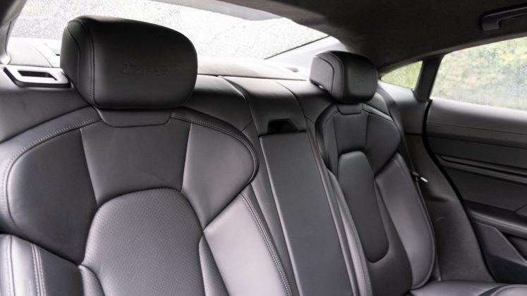 Porsche Taycan Turbo rear seats