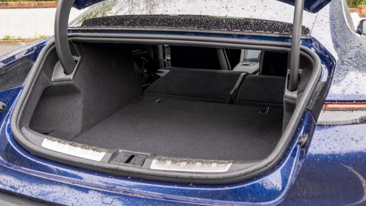 Porsche Taycan Turbo seat down rear