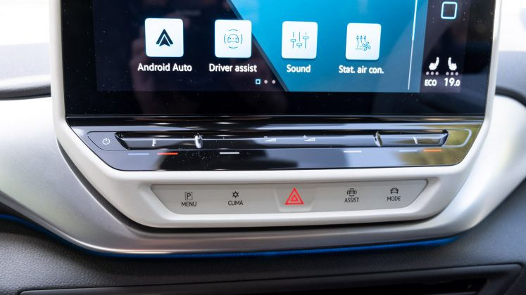 Volkswagen ID.4 capacitive buttons