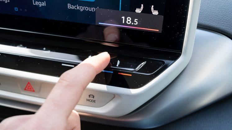 Volkswagen ID.4 climate control slider