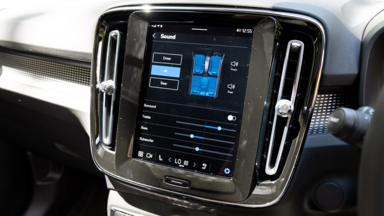 Volvo XC40 Recharge Twin EQ settings