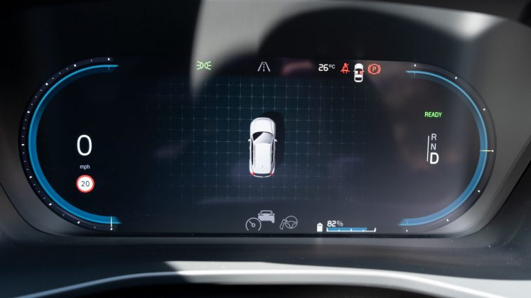 Volvo XC40 Recharge Twin cluster