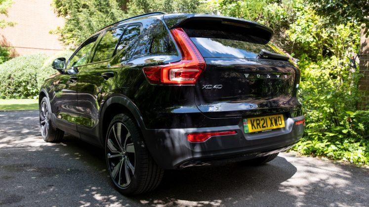 Volvo XC40 Recharge Twin rear profile