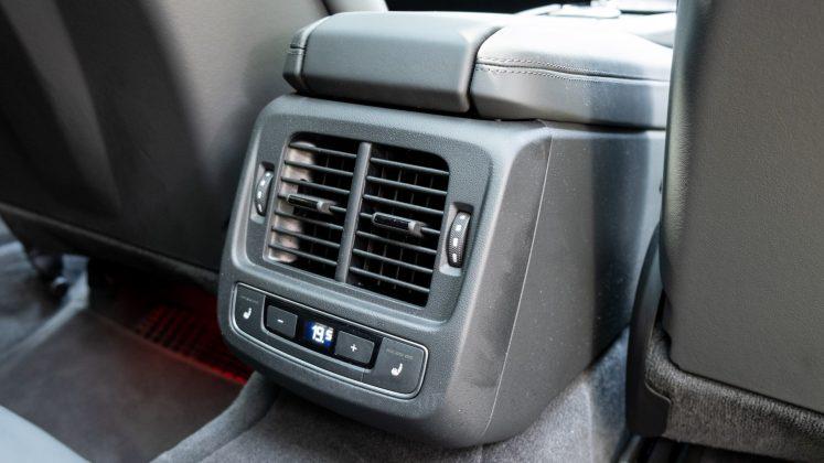 Audi e-tron GT rear climate controls