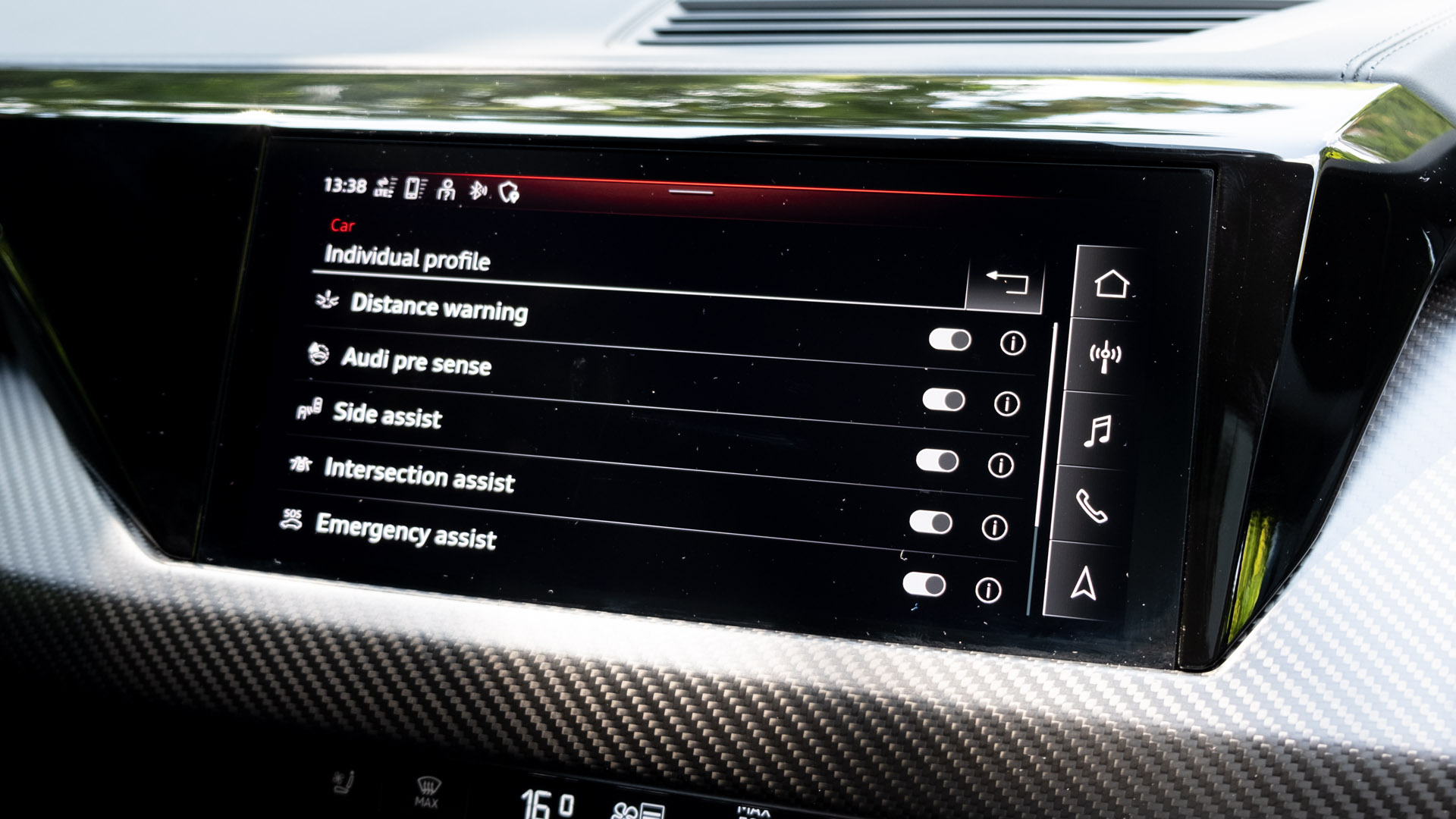 Audi e-tron GT safety systems