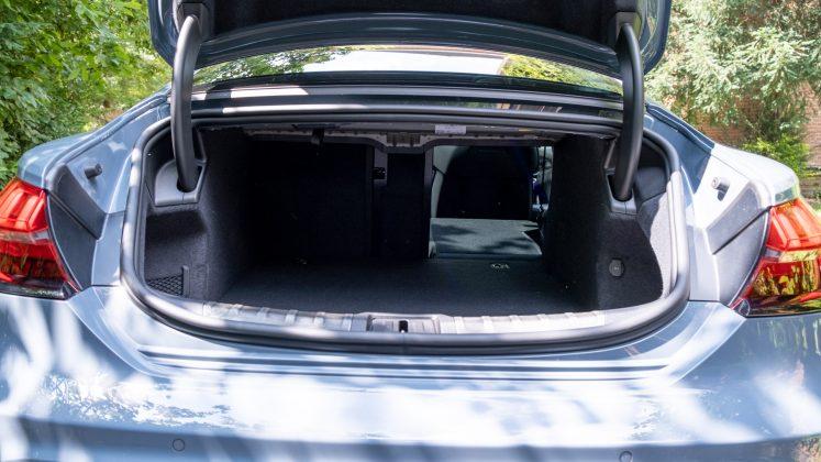 Audi e-tron GT seat folded