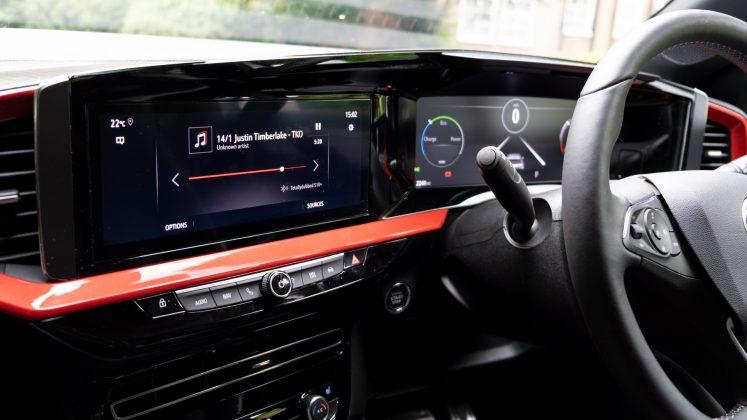 Vauxhall Mokka-e displays
