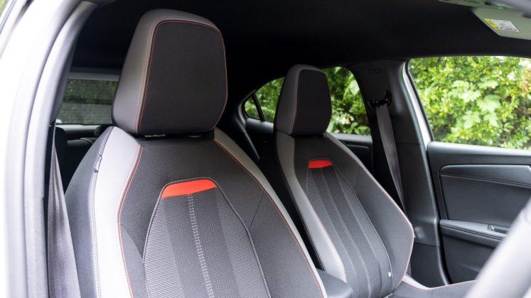 Vauxhall Mokka-e front seats