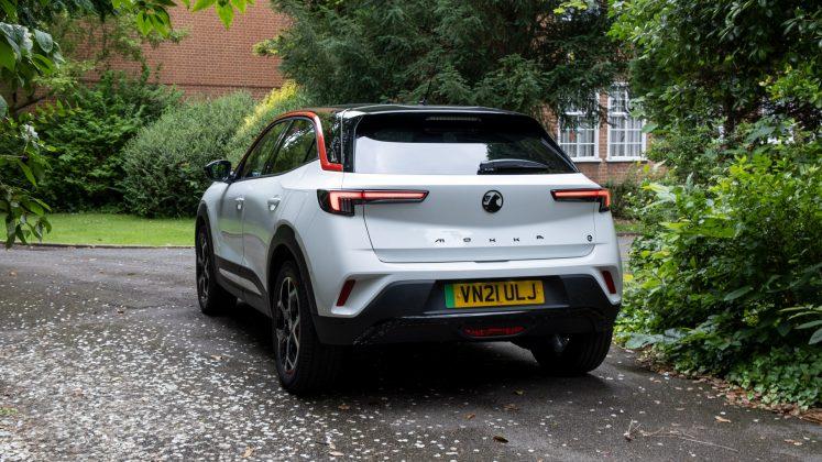 Vauxhall Mokka-e rear profile
