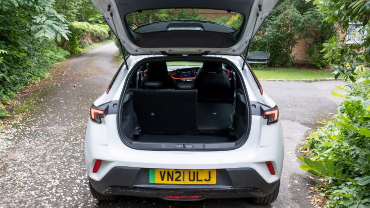 Vauxhall Mokka-e seat down