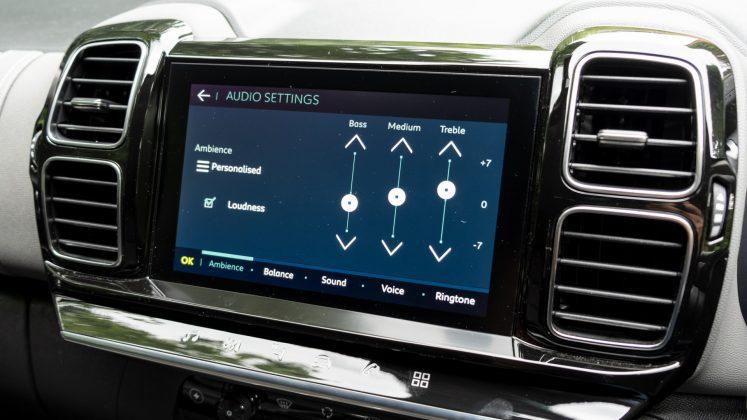 Citroen C5 Aircross Hybrid EQ settings