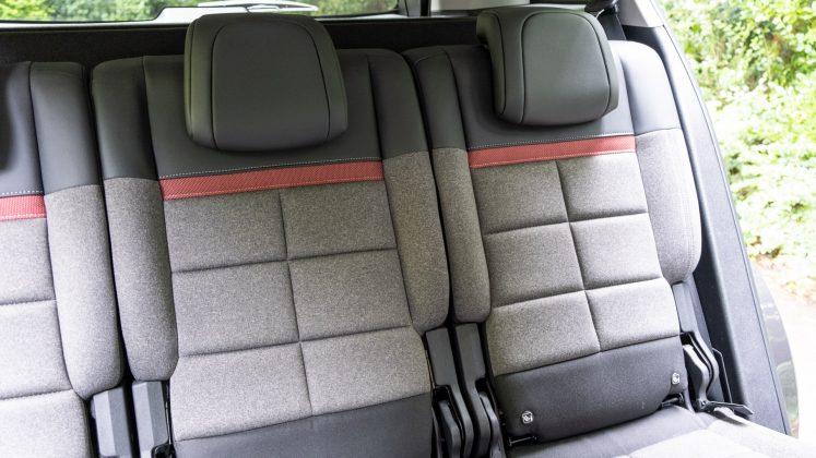 Citroen C5 Aircross Hybrid rear seat padding