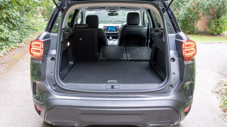 Citroen C5 Aircross Hybrid two seats down