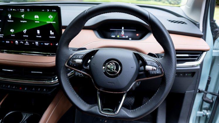 Skoda Enyaq iV steering wheel