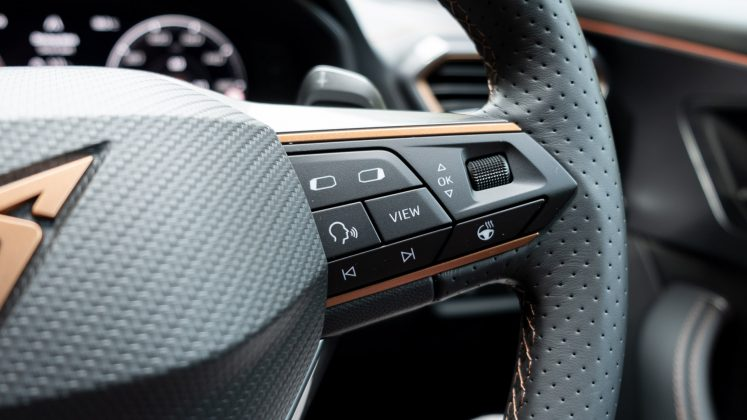 Cupra Formentor steering button layout