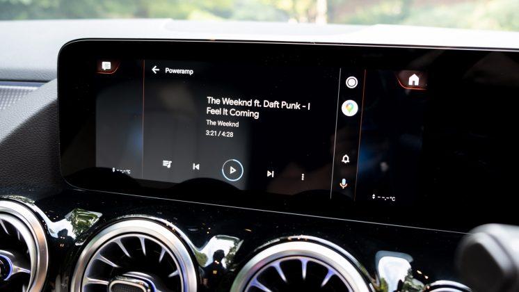 Mercedes EQA audio system