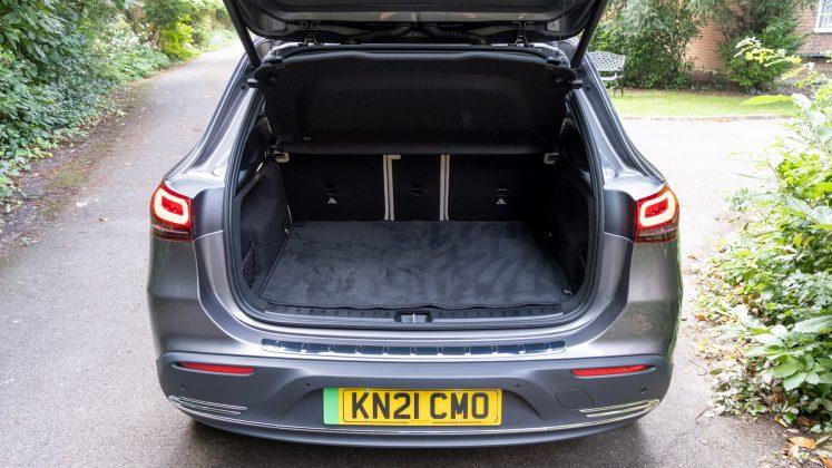 Mercedes EQA boot space