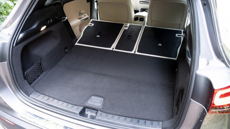 Mercedes EQA folded seats