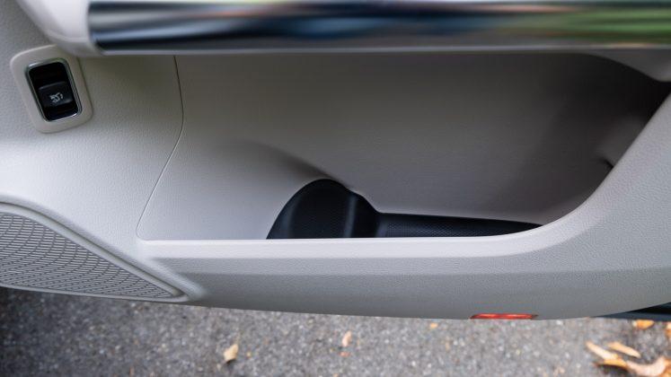 Mercedes EQA front door compartment