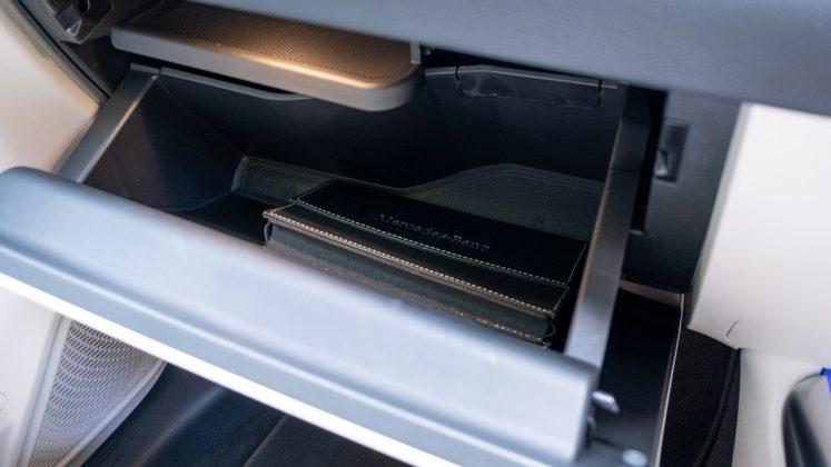 Mercedes EQA glove box