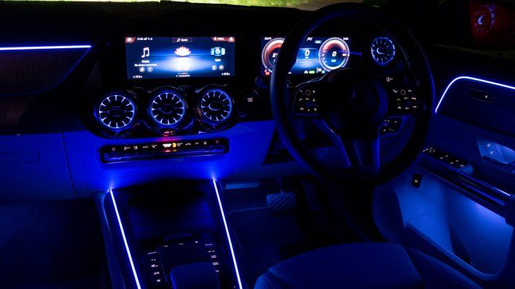 Mercedes EQA interior night