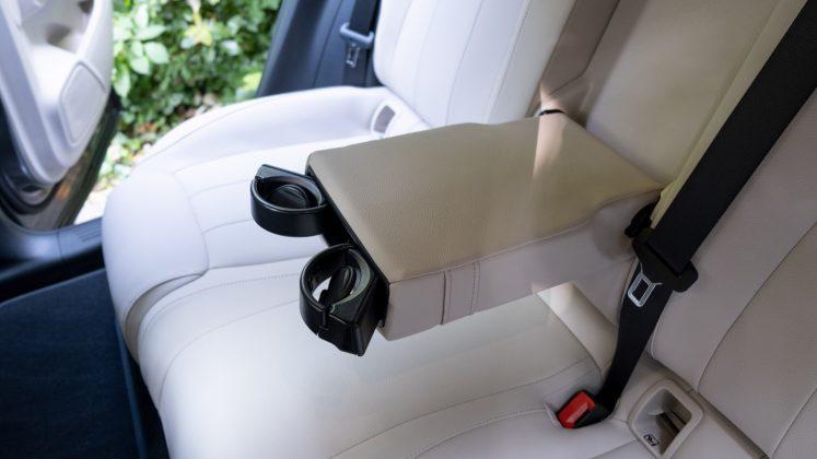 Mercedes EQA rear cupholders