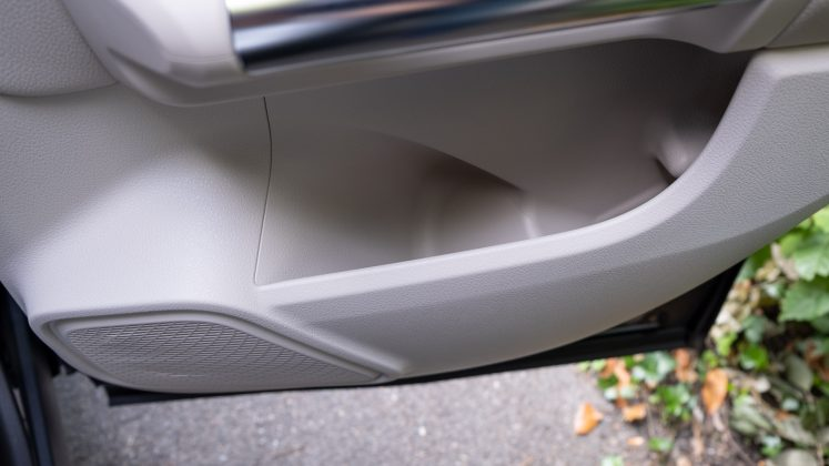 Mercedes EQA rear door compartment