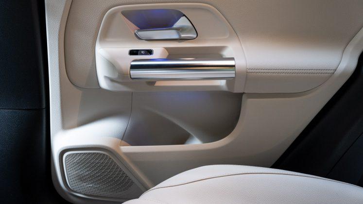 Mercedes EQA rear door design