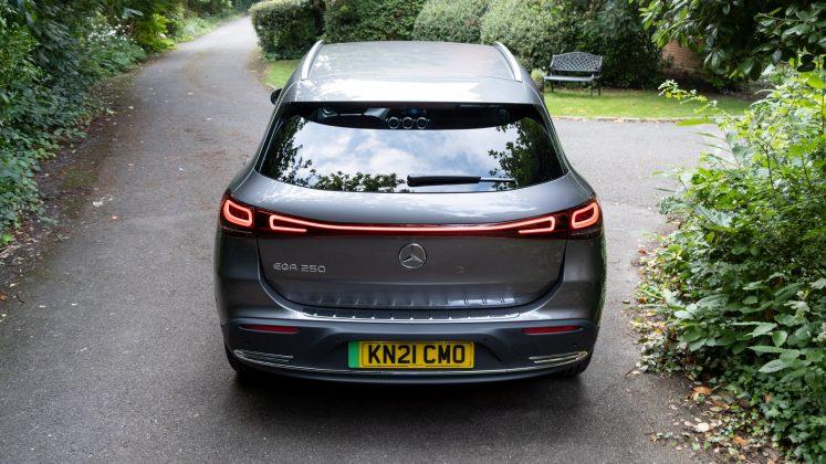 Mercedes EQA rear profile