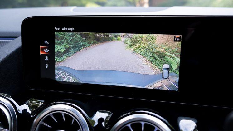 Mercedes EQA rearview camera