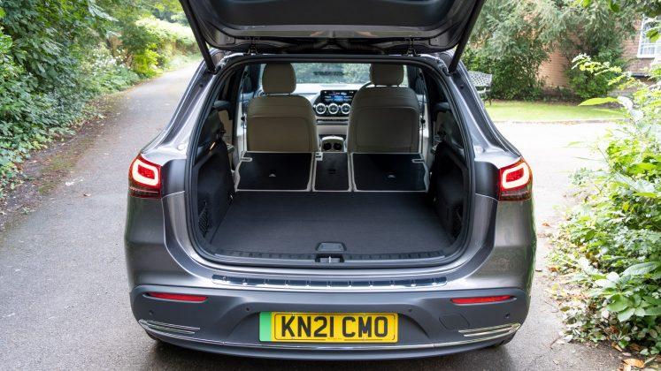 Mercedes EQA seats folded